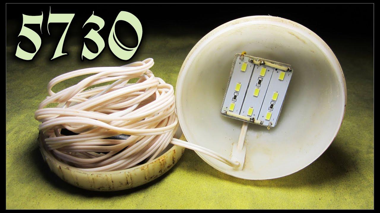 Светодиодная лампа на 12в. своими руками