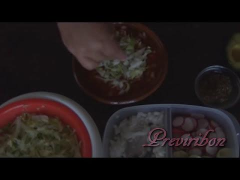 Receta del rico pozole rojo de carne de puerco/ recipe *video 153*