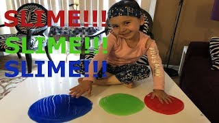 slime videos-kids toy reviews- colors