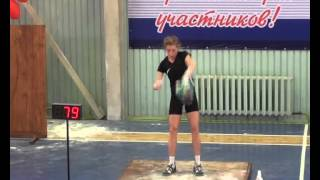 World Absolute record in Snatch Yaremenko Olga 188 reps - w.c. 53kg - RGSI Team