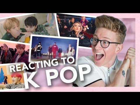 reacting to k-pop (exo, bts, blackpink, seventeen, holland & more!!) thumbnail