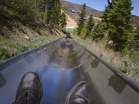 Utah Olympic Park  QuickSilver Alpine Slide.flv