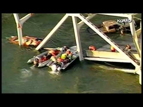 [RAW] I-5 Bridge Collapses In Washington - 23 May 2013