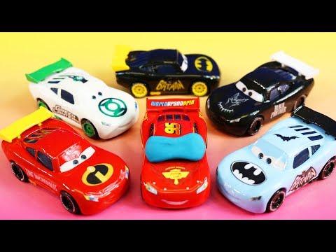 Disney Pixar Cars Lightning McQueen Dream 4 With Incredibles 2 Mr. Incredible Imaginext Batman