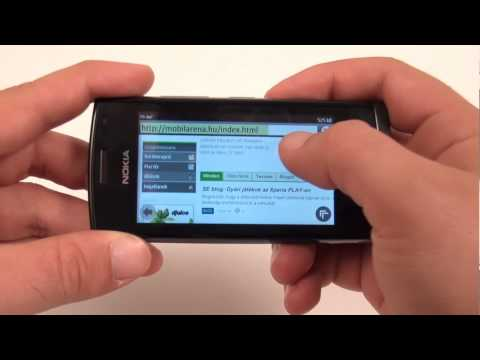 Nokia 500 menu overview - HUN