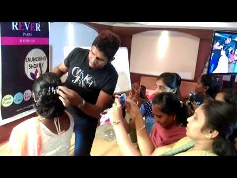 Bridal hairstyle Vizag India Mahesh academy