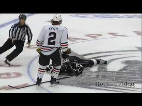 Duncan Keith slashes Jeff Carter in the face . June 4, 2013
