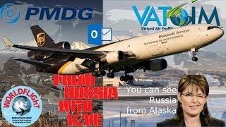 PMDG MD11, Petropavlovsk to Anchorage. WorldFlight 2017
