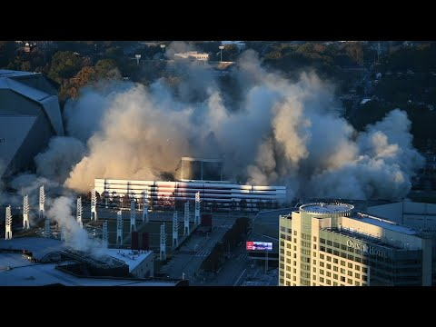 Scheduled Implosion Brings Down Georgia Dome