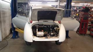 Twin Pipe 2 Stroke Subaru 360 Vintage Race Car