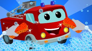Fire Truck | Car Wash | baby video | learn vehicles | truck song