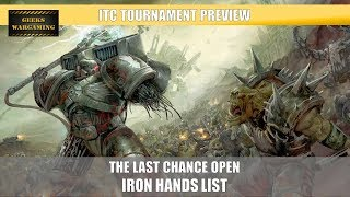 ITC Tournament: Iron Hands Army Preview