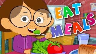 I Always Eat My Meals | Food Song | Nursery Rhymes | Kids Rhyme