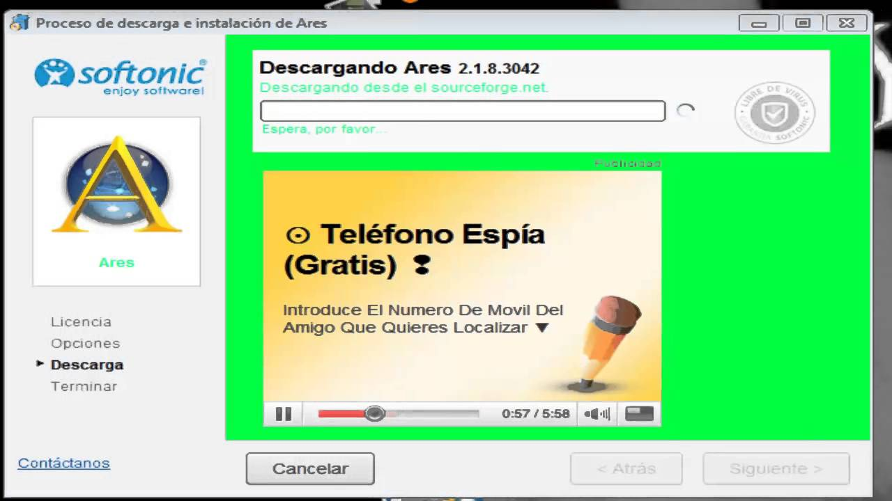 Como descargar ares gratis por softonic youtube for Descarga are