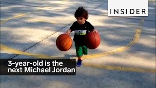 This 3-year-old is basically the next Michael Jordan