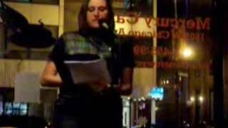"Janet Kuypers poem ""Cast In Stone"" 11/30/07 live in Chicago"