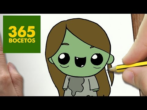 COMO DIBUJAR NIÑA POSEIDA KAWAII PASO A PASO - Dibujos kawaii faciles - How to draw a POSSESSED GIRL