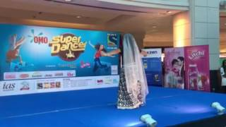 Jaani dancing for Omo Sony TV super dancer audition in Dubai