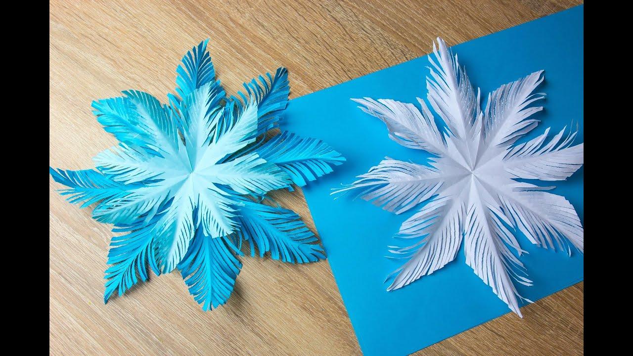Как сделать новогодние снежинка своими руками6