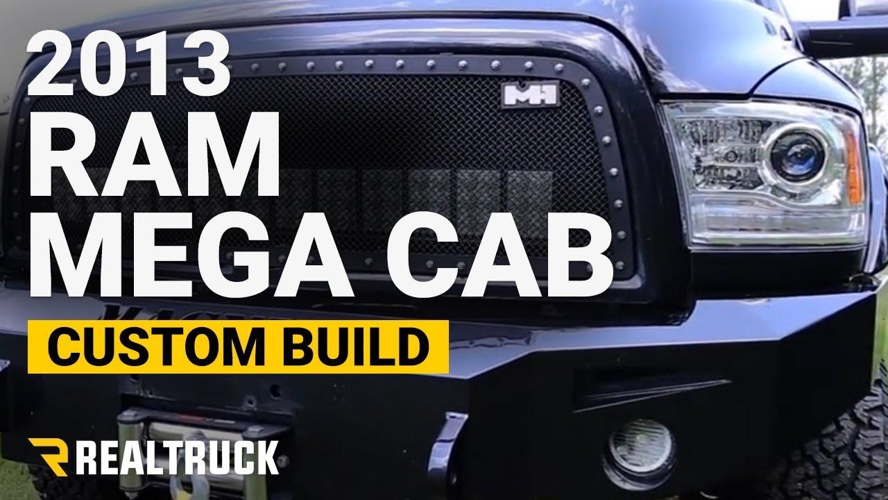 Custom 2013 Dodge Ram Mega Cab 5.7 Hemi - RealTruck Rocks the Ram - YouTube