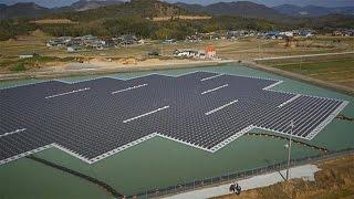 Dal Giappone la centrale ad energia solare che galleggia