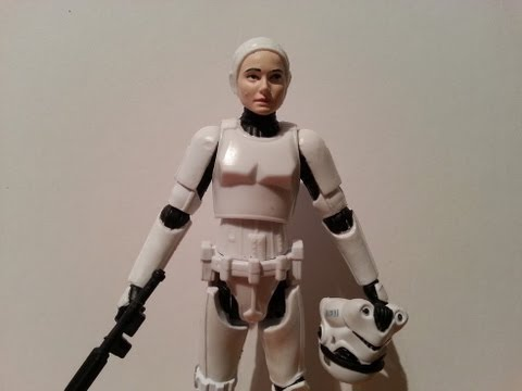 Female Stormtrooper Padme Hasbro Mashup Figure HD Action Figure Review | www.flyguy.net