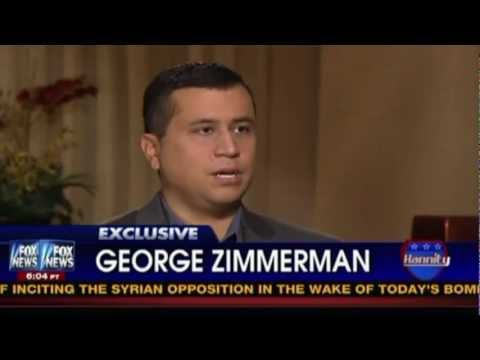 George Zimmerman Interviewed By Sean Hannity: