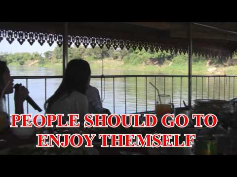 HMONG GIRL IN LAOS WAS SINGING: FUN BOAT RIDE IN LAOS WITH A KARAOKE.....Near Makong River