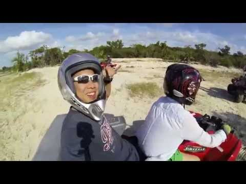 Reinforcing the Asian Woman Driver stereotype - ATV tour at Exuma