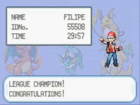 Pokemon Fire Red - Battle vs Champion Gary