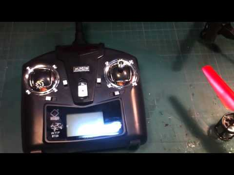 V929 quadcopter by WL Toys mini review and flight demo indoors