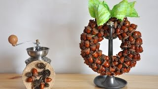 Wianek z żołędzi   krok po kroku # Wreath of acorns  DIY