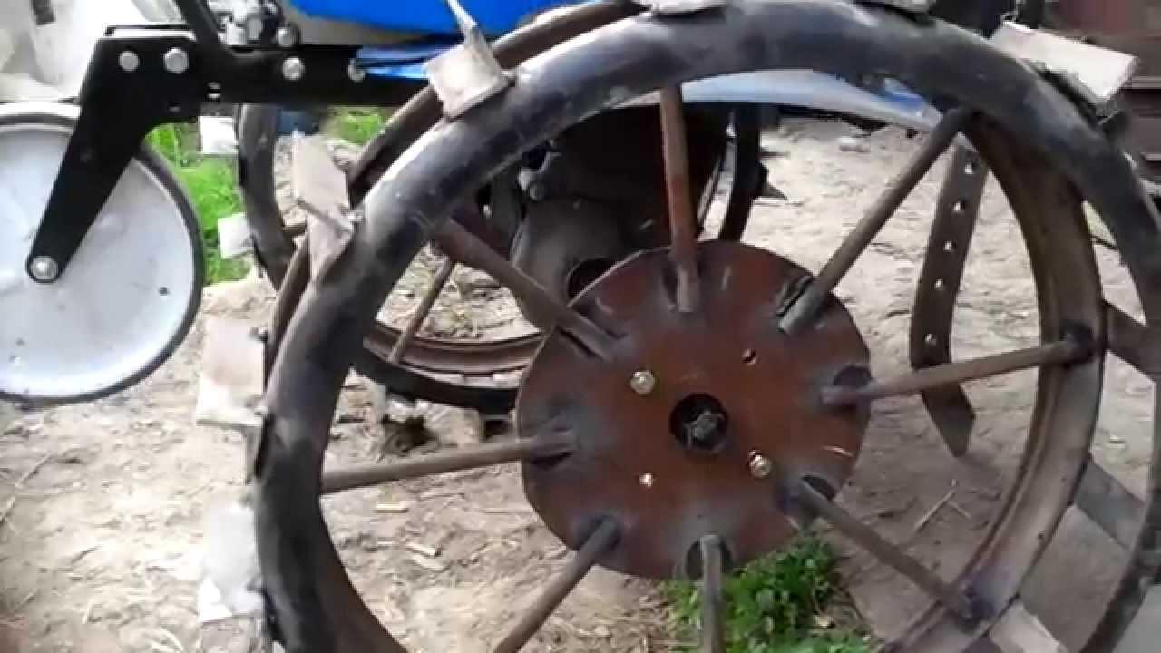 Грунтозацеп для мотоблока своими руками из колес мотоцикла