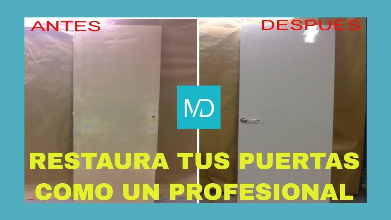 Como restaurar y pintar una puerta antigua paso a paso for Pintar puertas de blanco en casa