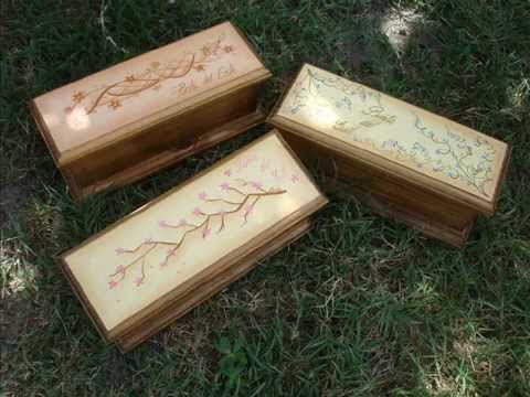 Pintura decorativa cajas de t pintadas a mano youtube - Cajas de madera pintadas a mano ...