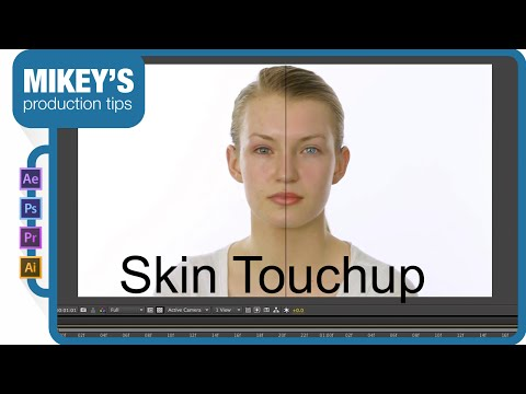 How to touch up skin on video