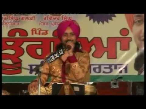 satinder sartaj live pind jhungian 2013 near kharar mohali part...