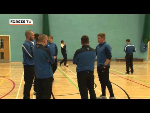 UK Armed Forces Football Team Prepare For Match Against Irish Defence Force