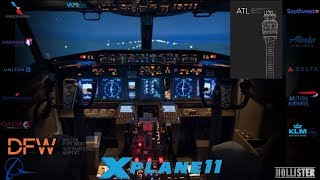 X-PLANE 11 || KDFW - KATL || B737-900u ||DAL298 || VATSIM