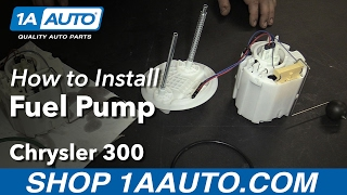 How to Install Replace Electric Fuel Pump Sending Unit 18 Gallon Tank 2005-10 Chrysler 300 Rear Whee