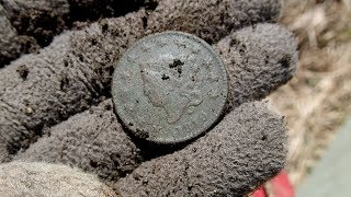 Metal Detecting - Found 200 Year Old Large Cent and George Washington Button! | nuggetnoggin