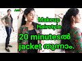 How to sew Jacket in 20 minutes|Nautral makeup look|Easy ponytail hairstyle|Asvi Malayalam thumbnail