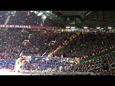 CSKA Moscow Fans go mental at Old Trafford after the Dzagoev/Vitinho goal v Manchester United