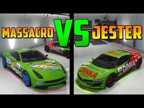 Jester Carreras VS Massacro Carreras - Test de Velocidad - El Vehículo Mas Rápido de GTA 5 Online