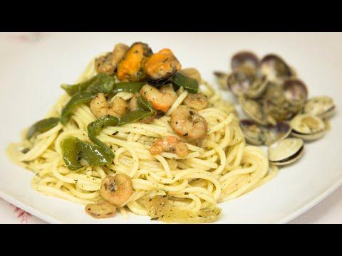 Cómo se hace, espaguetis a la marinera