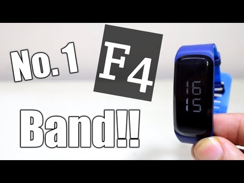 NO.1 F4 Heart Rate Smartband - Unboxing & Review!!