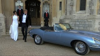 Newlyweds Prince Harry and Meghan Markle drive to evening reception | ITV News