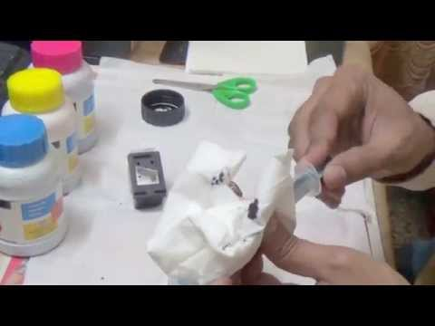 How to refill HP 802 cartridge at home part-2
