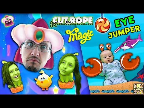 Let's CUT THE ROPE w/ MAGIC and JUMP w/ our EYES! Shawn's First Gameplay (FGTEEV Parents & Kids Fun)