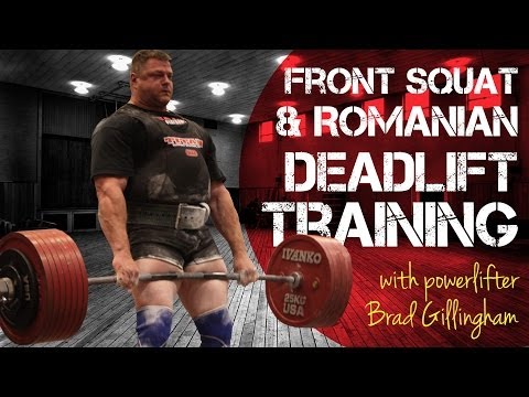 Front Squat & Romanian Deadlift Training - Team HMB Image 1
